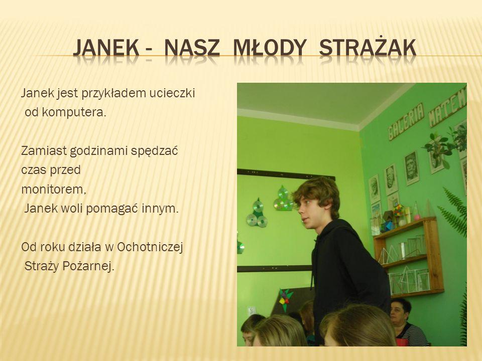 Janek - nasz młody strażak