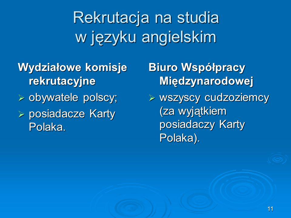 Rekrutacja na studia w języku angielskim