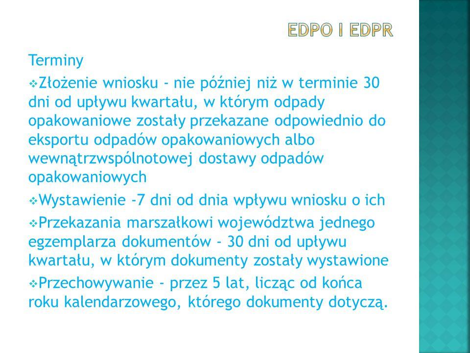 EDPO i EDPR Terminy.