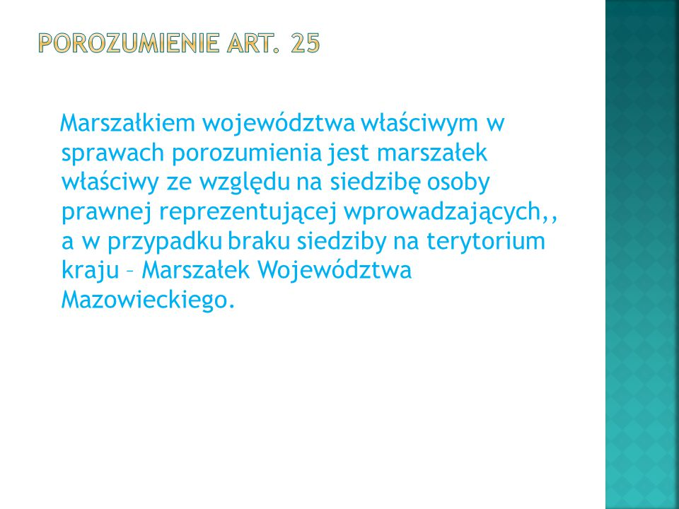 Porozumienie art. 25