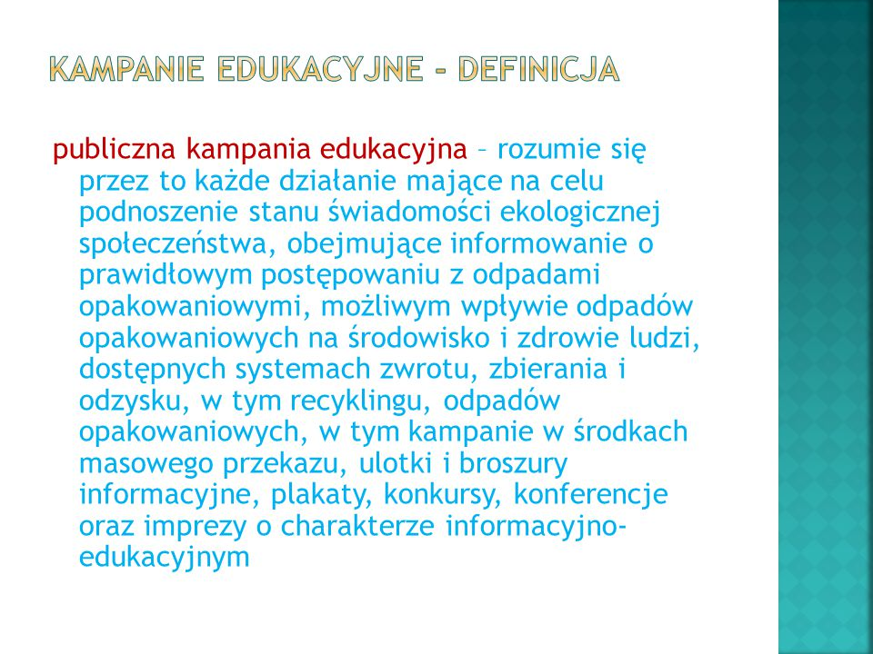 Kampanie edukacyjne - definicja