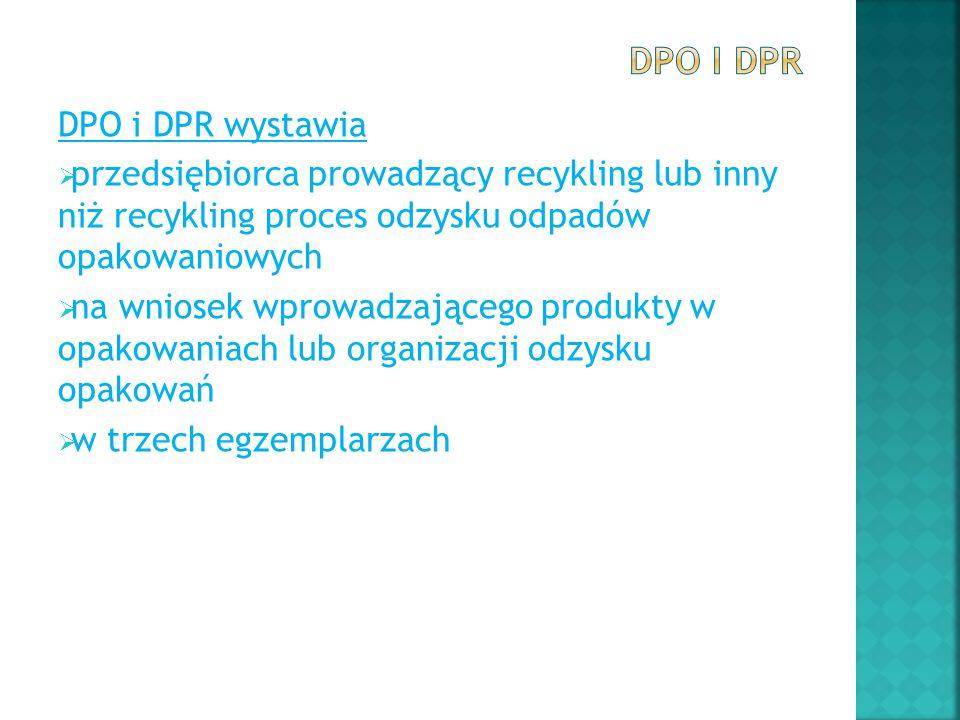 DPO i DPR DPO i DPR wystawia