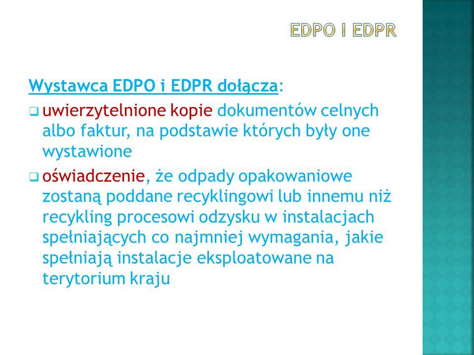 EDPO i EDPR Wystawca EDPO i EDPR dołącza: