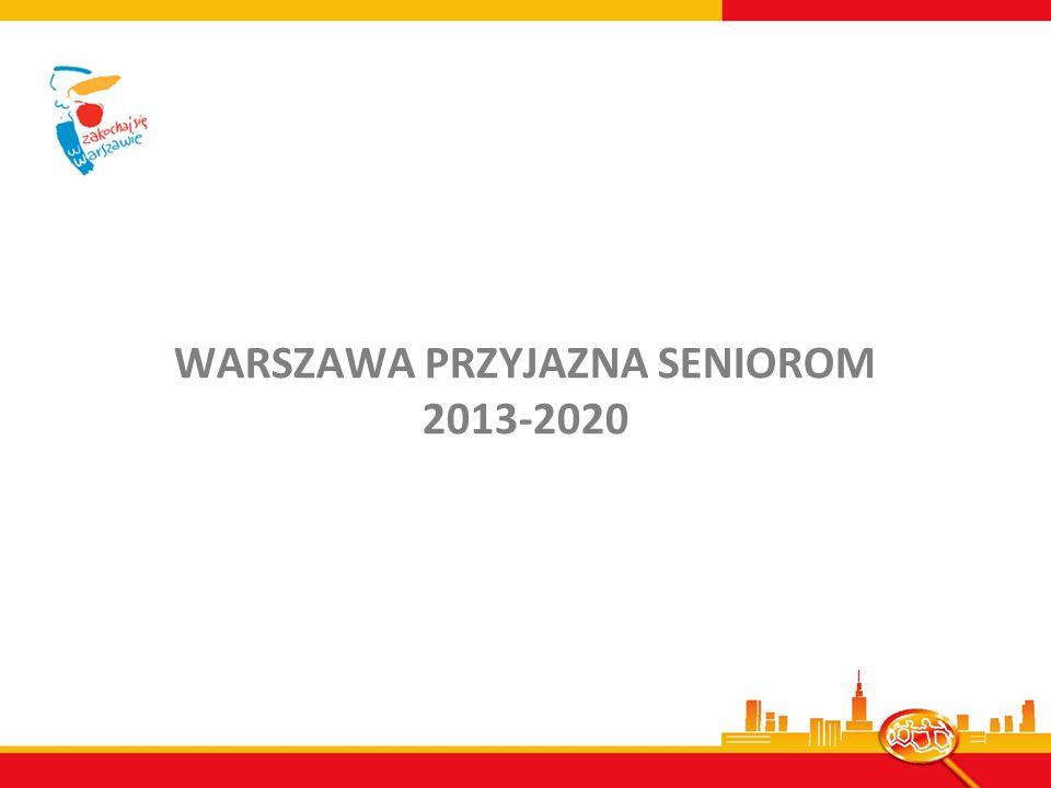 WARSZAWA PRZYJAZNA SENIOROM 2013-2020