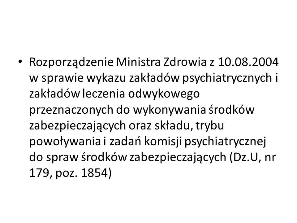 Rozporządzenie Ministra Zdrowia z 10. 08
