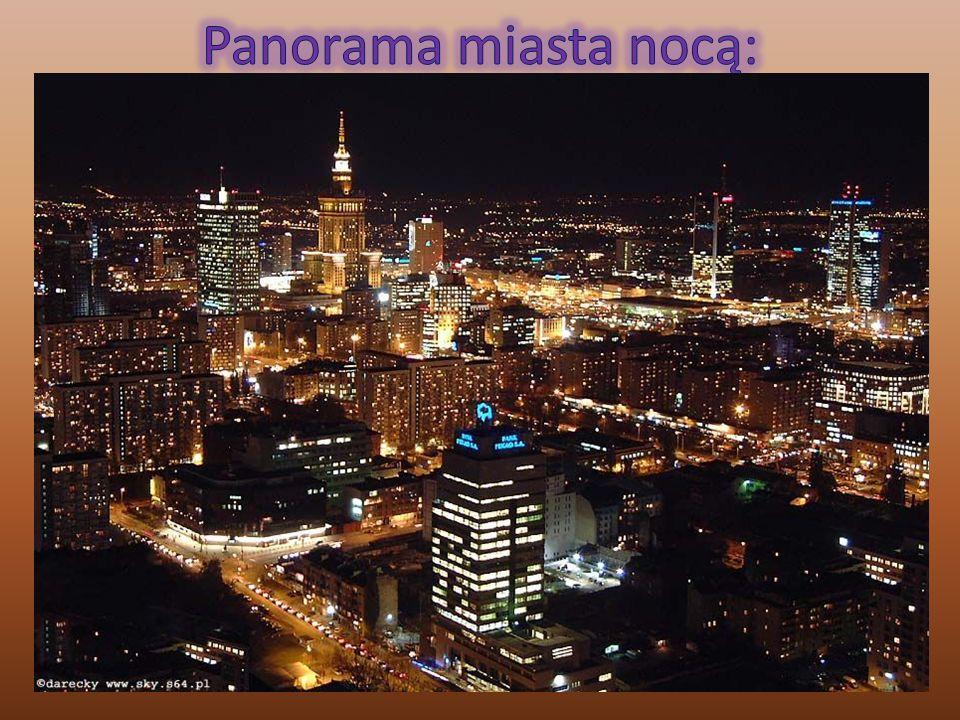 Panorama miasta nocą: