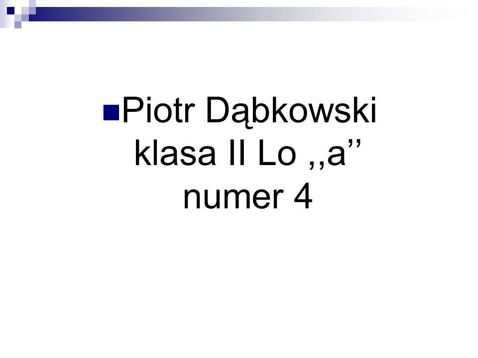 Piotr Dąbkowski klasa II Lo ,,a'' numer 4