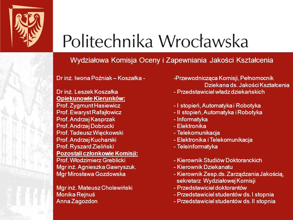 Wydziałowa Komisja Oceny i Zapewniania Jakości Kształcenia