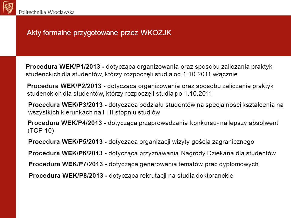 Akty formalne przygotowane przez WKOZJK