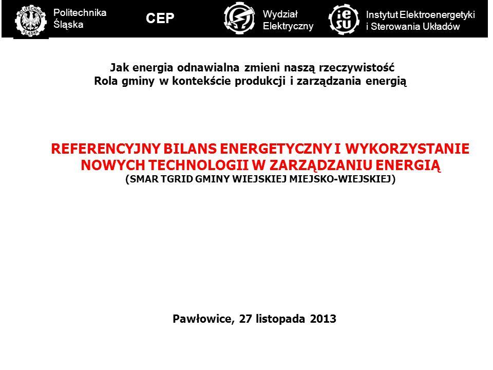C Politechnika Śląska. CEP. Wydział Elektryczny. Instytut Elektroenergetyki i Sterowania Układów.