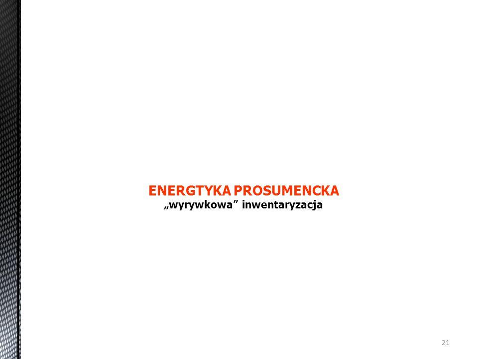 """ENERGTYKA PROSUMENCKA """"wyrywkowa inwentaryzacja"""