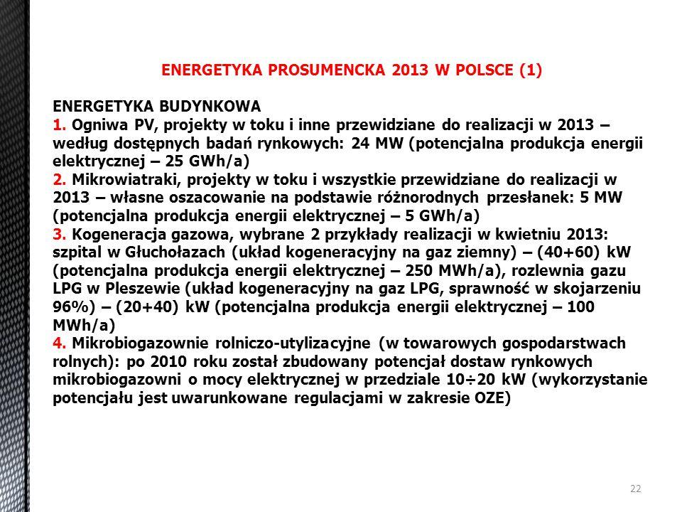 ENERGETYKA PROSUMENCKA 2013 W POLSCE (1)