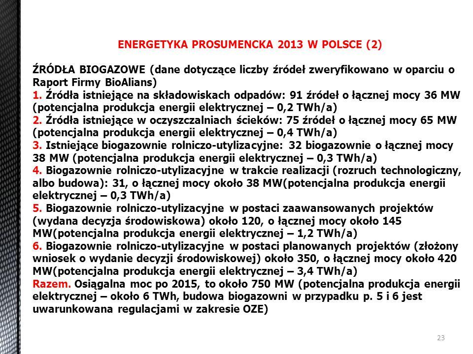 ENERGETYKA PROSUMENCKA 2013 W POLSCE (2)