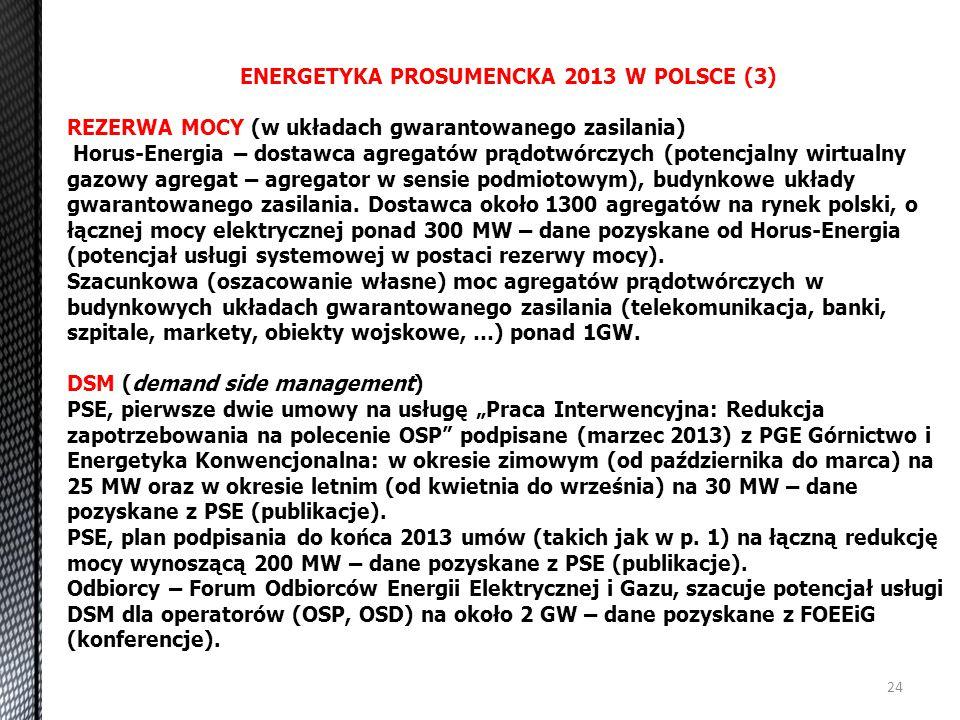 ENERGETYKA PROSUMENCKA 2013 W POLSCE (3)