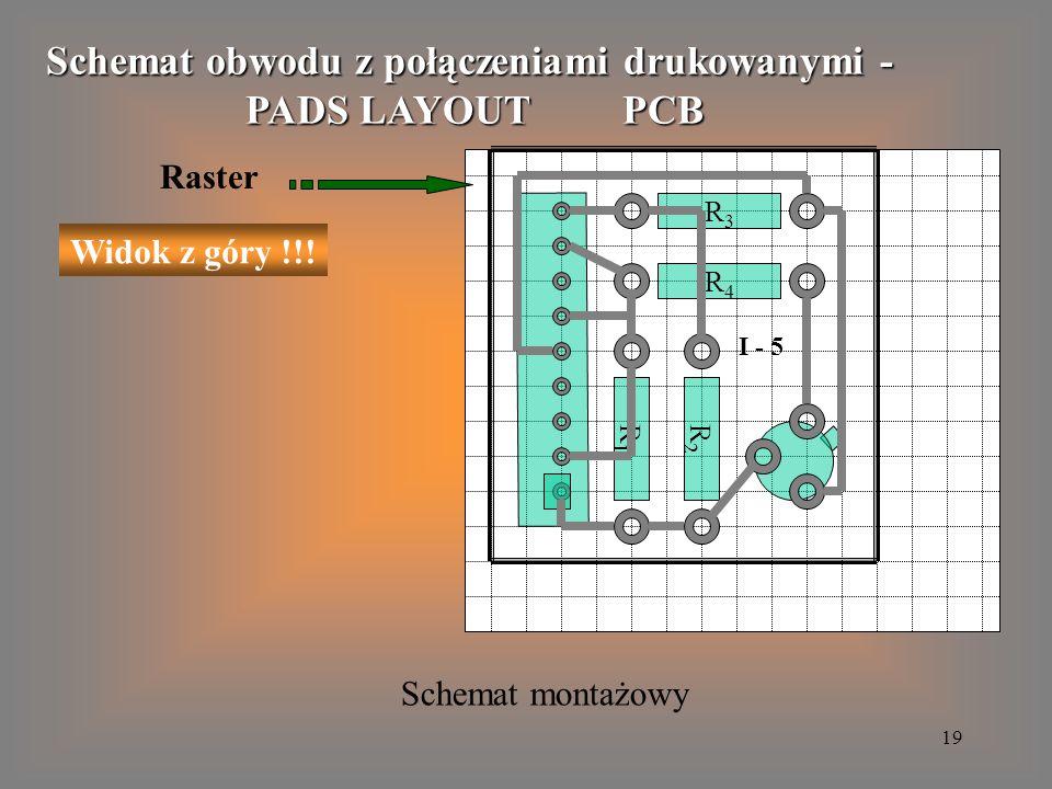 Schemat obwodu z połączeniami drukowanymi -