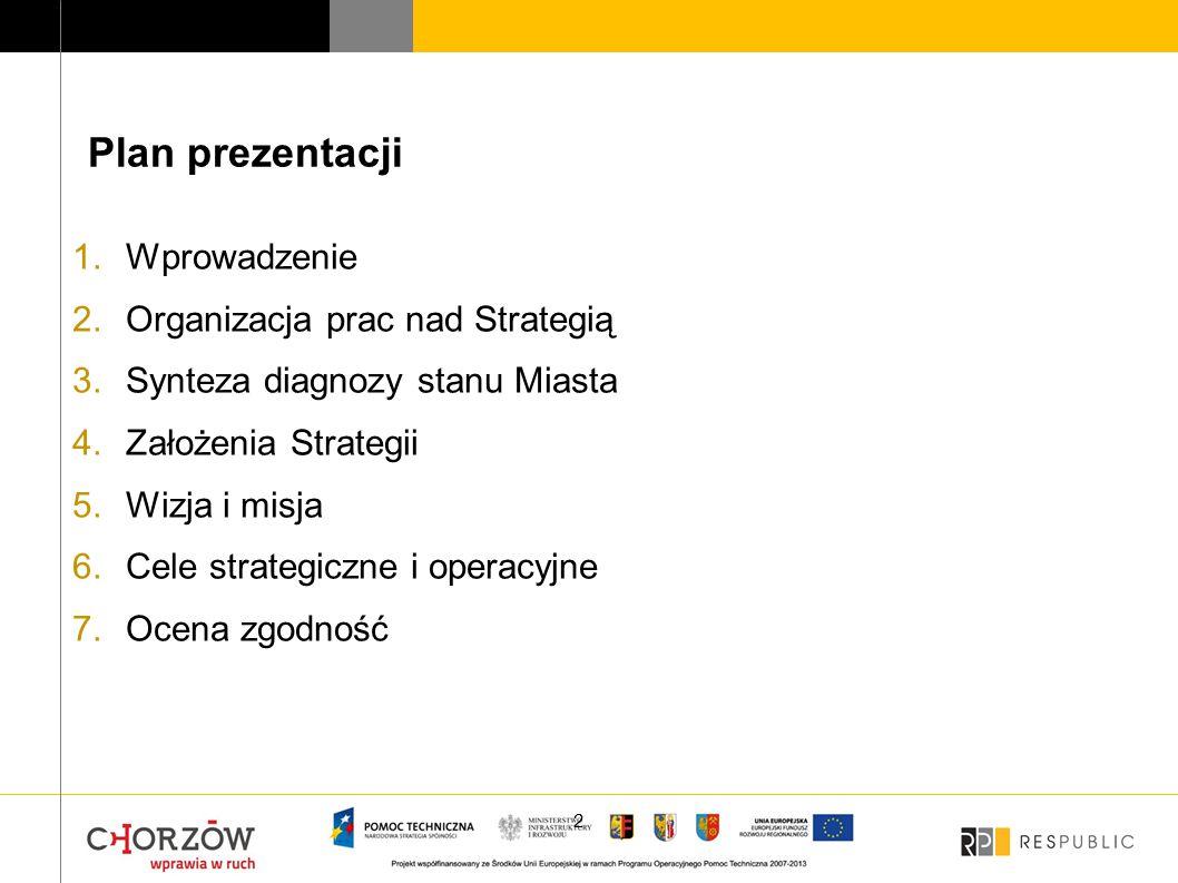 Plan prezentacji Wprowadzenie Organizacja prac nad Strategią