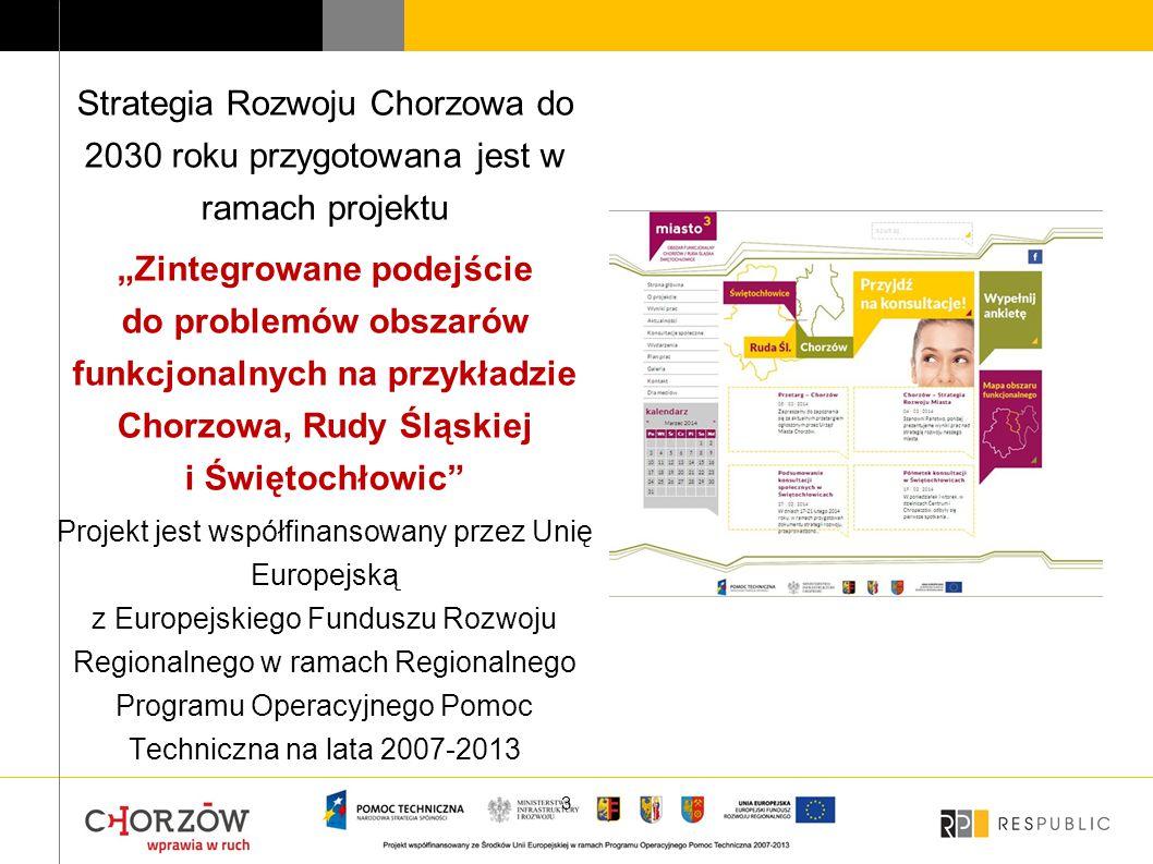 Strategia Rozwoju Chorzowa do 2030 roku przygotowana jest w ramach projektu