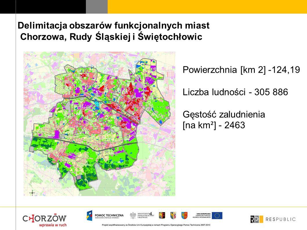 Delimitacja obszarów funkcjonalnych miast Chorzowa, Rudy Śląskiej i Świętochłowic
