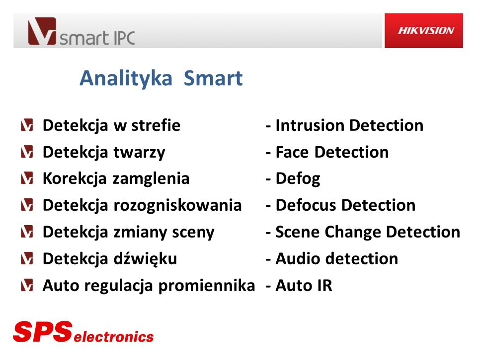 Analityka Smart Detekcja w strefie - Intrusion Detection
