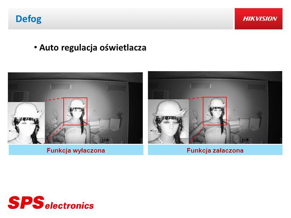 Defog Auto regulacja oświetlacza Funkcja wyłaczona Funkcja załaczona