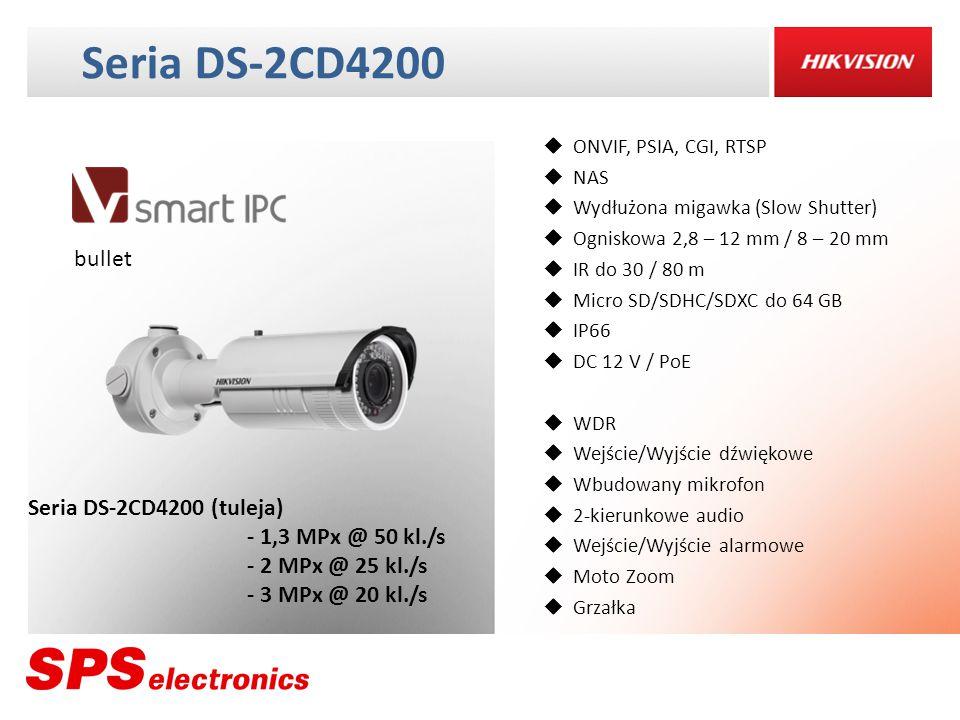Seria DS-2CD4200 bullet Seria DS-2CD4200 (tuleja) - 1,3 MPx @ 50 kl./s