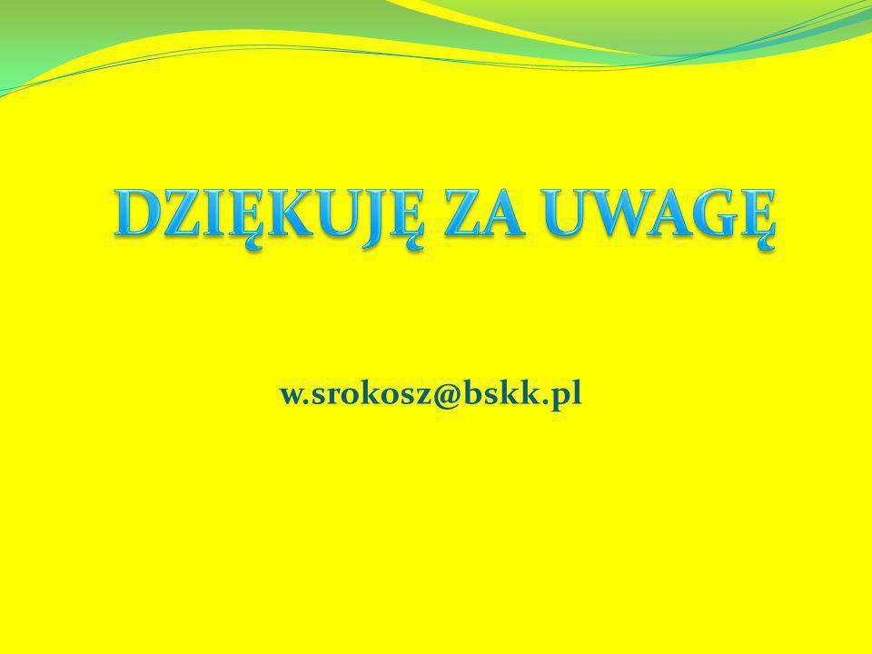 DZIĘKUJĘ ZA UWAGĘ w.srokosz@bskk.pl