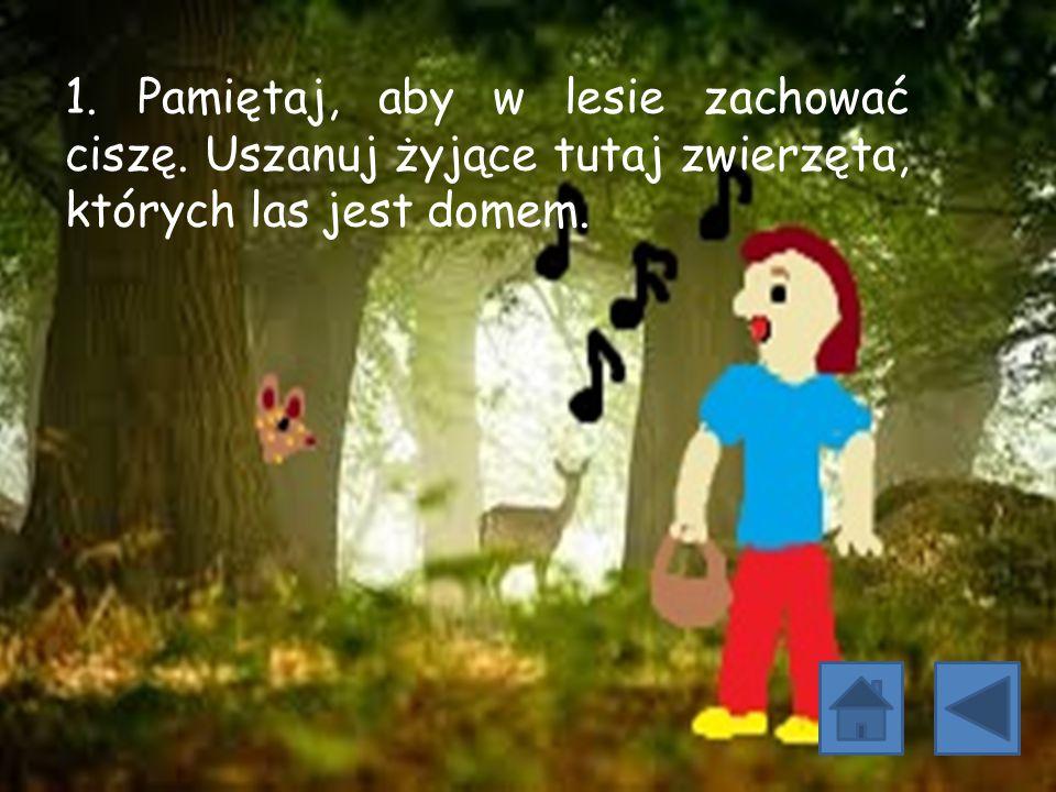 1. Pamiętaj, aby w lesie zachować ciszę
