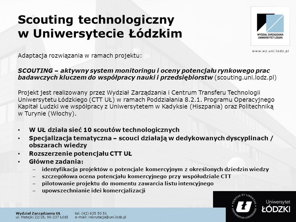 Scouting technologiczny w Uniwersytecie Łódzkim