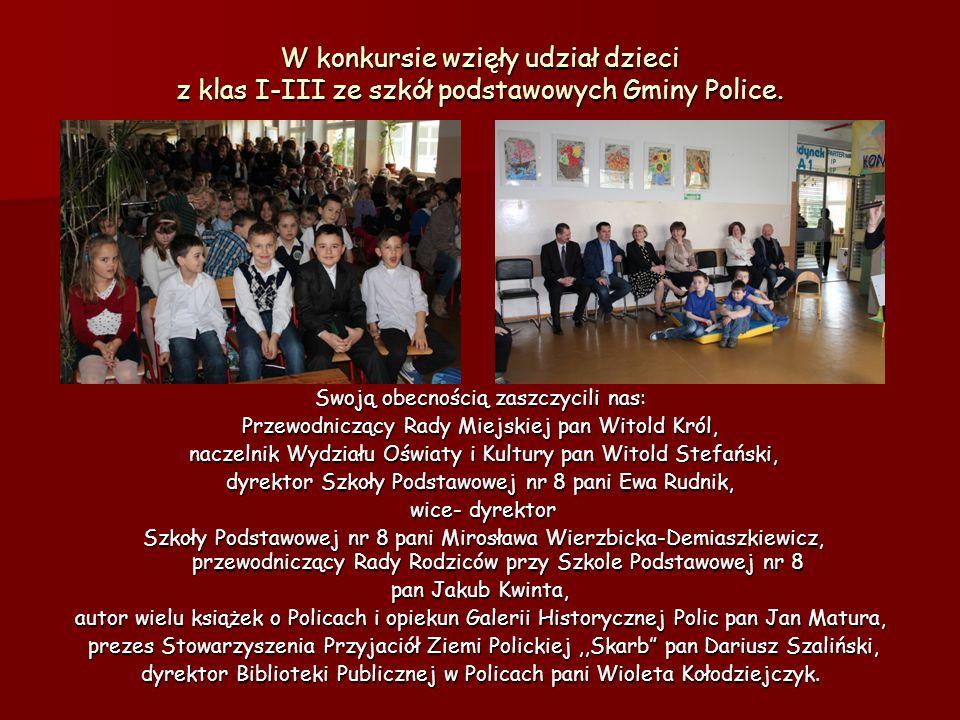 W konkursie wzięły udział dzieci z klas I-III ze szkół podstawowych Gminy Police.