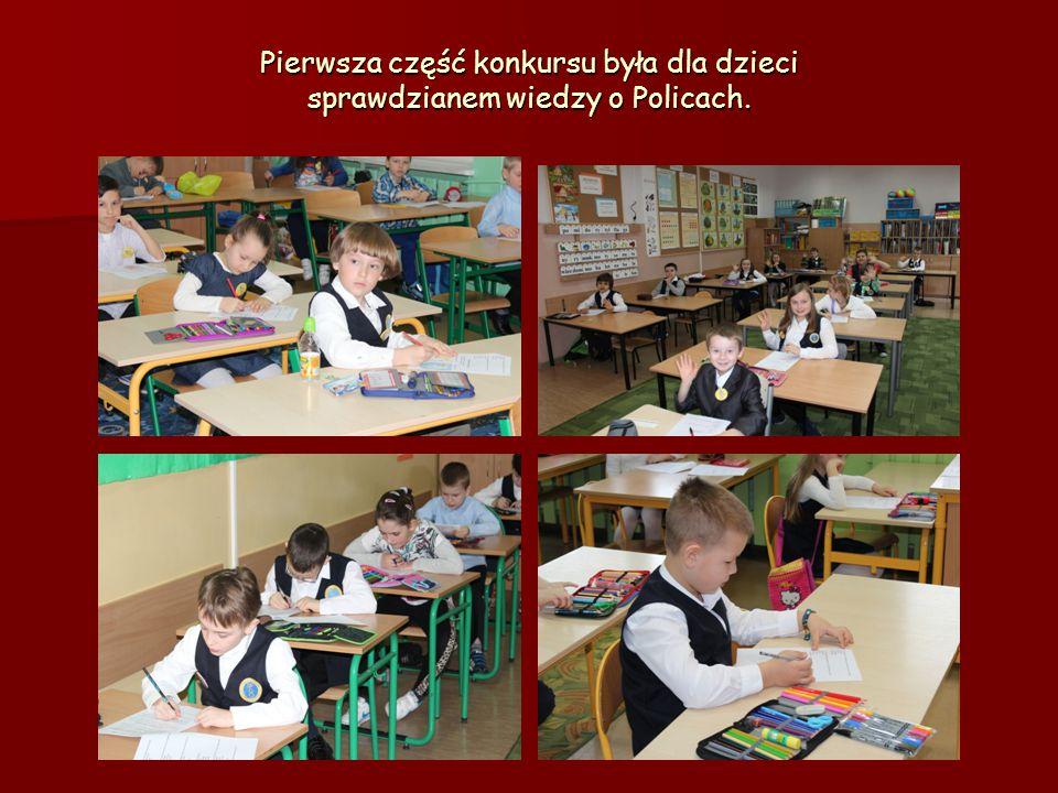 Pierwsza część konkursu była dla dzieci sprawdzianem wiedzy o Policach.