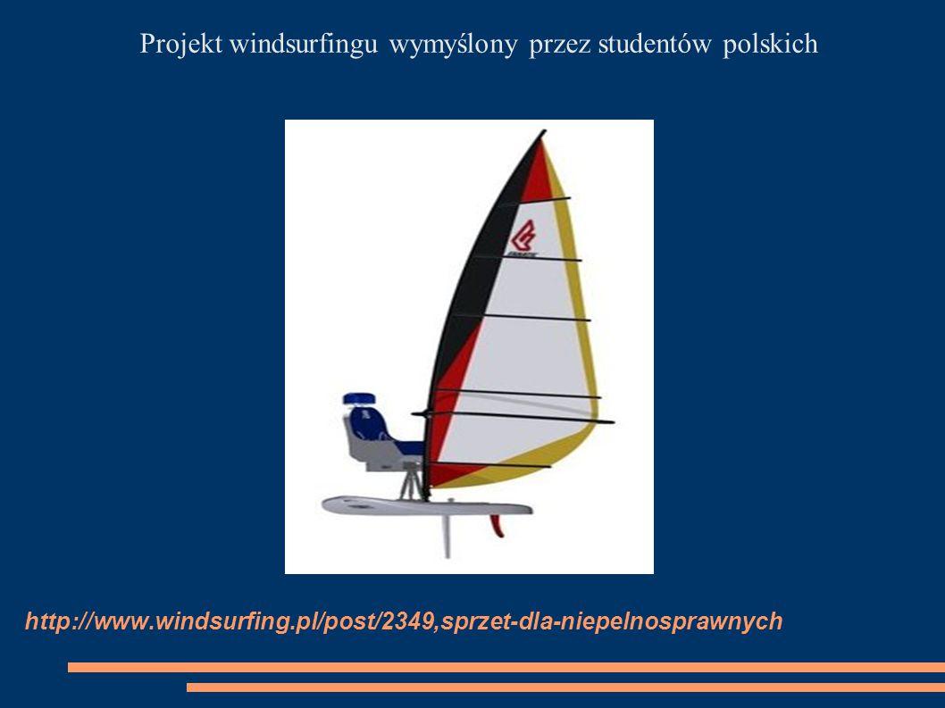 Projekt windsurfingu wymyślony przez studentów polskich
