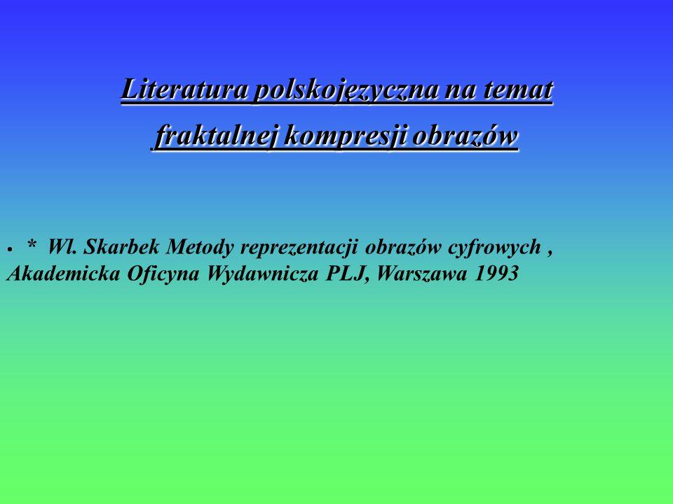 Literatura polskojęzyczna na temat fraktalnej kompresji obrazów