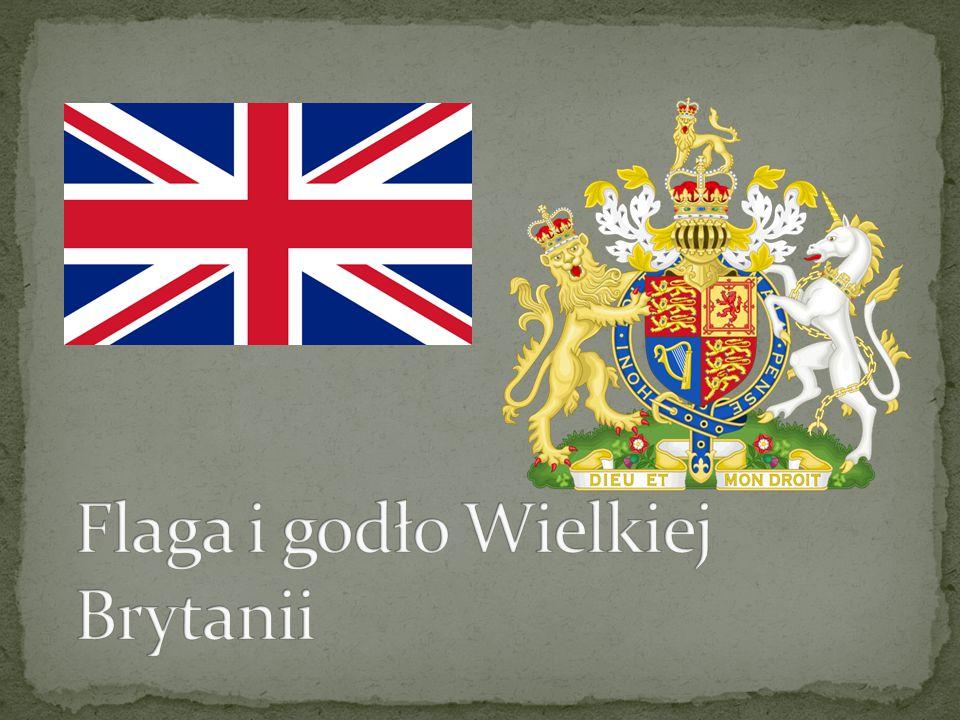 Flaga i godło Wielkiej Brytanii