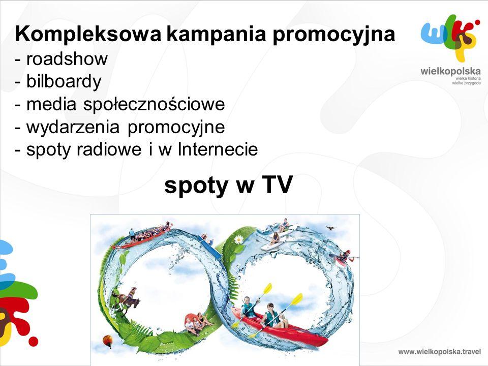 Kompleksowa kampania promocyjna - roadshow - bilboardy - media społecznościowe - wydarzenia promocyjne - spoty radiowe i w Internecie