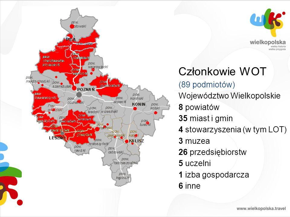 Członkowie WOT (89 podmiotów) Województwo Wielkopolskie 8 powiatów