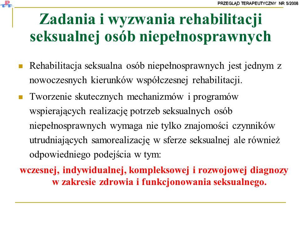 Zadania i wyzwania rehabilitacji seksualnej osób niepełnosprawnych