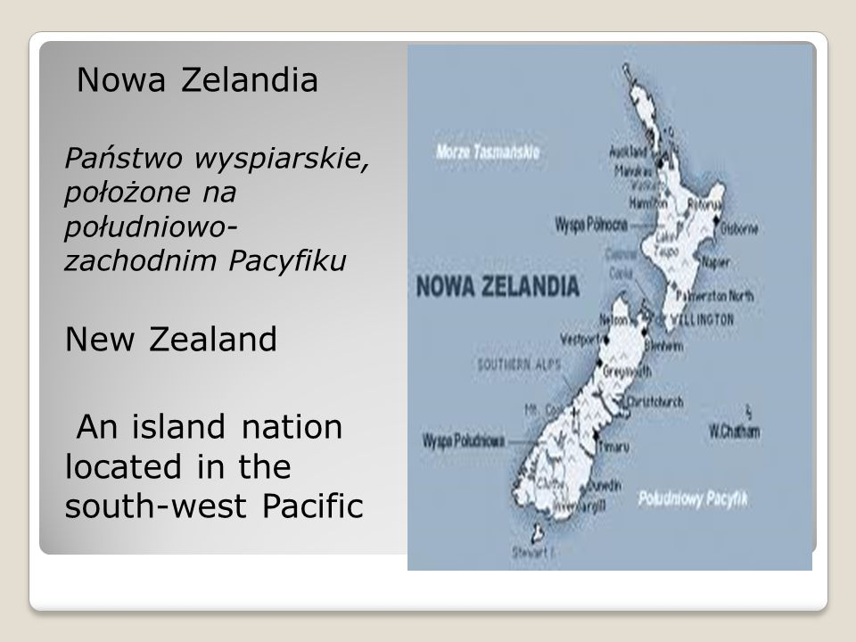 An island nation located in the south-west Pacific