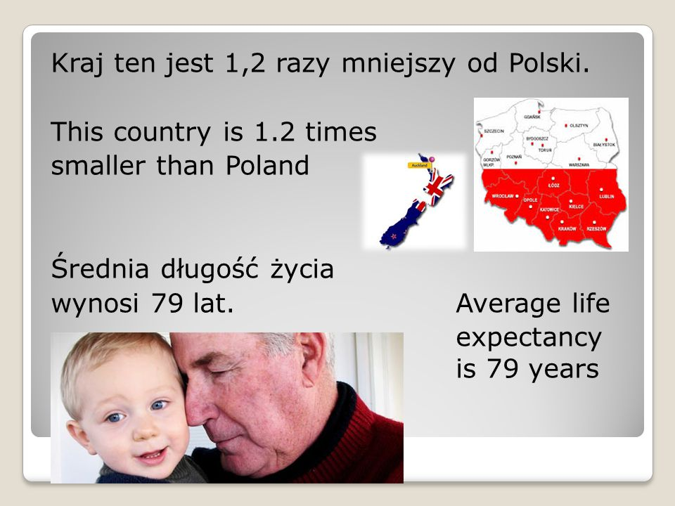 Kraj ten jest 1,2 razy mniejszy od Polski.