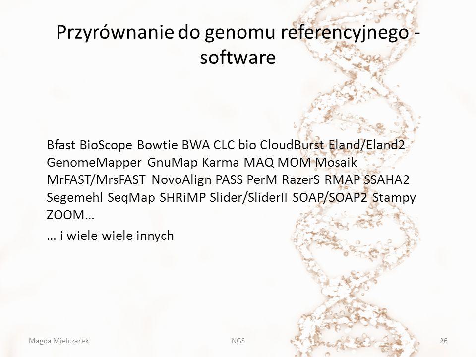 Przyrównanie do genomu referencyjnego - software