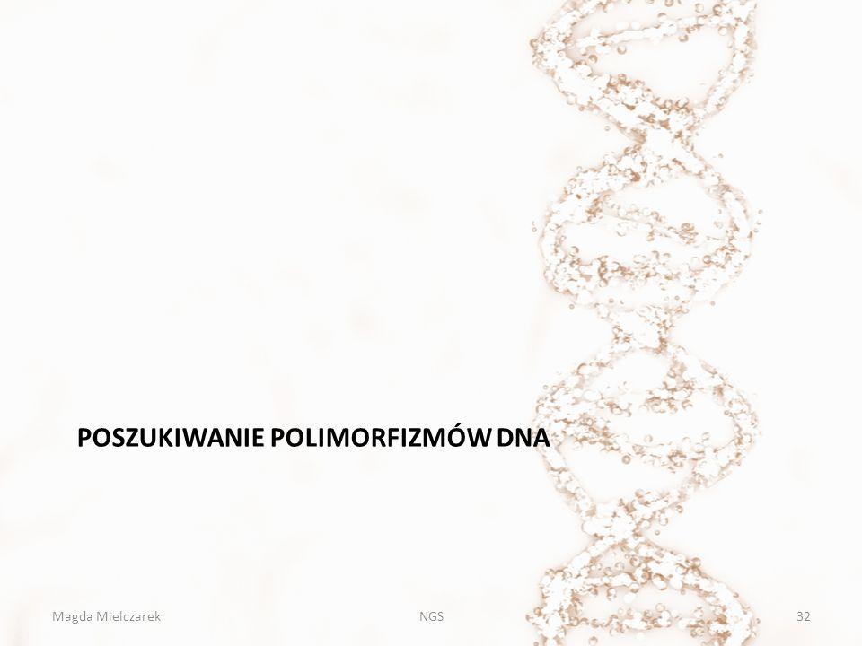 Poszukiwanie POLIMORFIZMÓW DNA