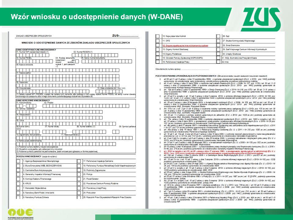 Wzór wniosku o udostępnienie danych (W-DANE)