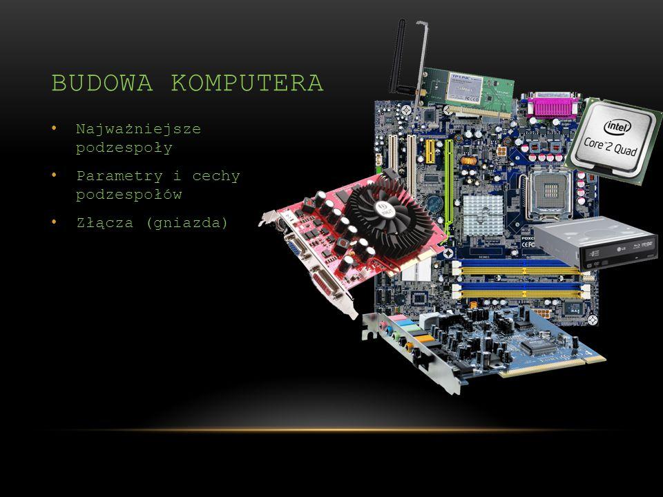Budowa komputera Najważniejsze podzespoły