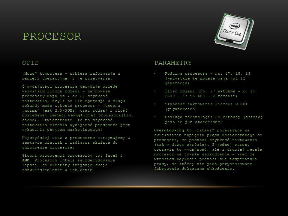 procesor OPIS PARAMETRY