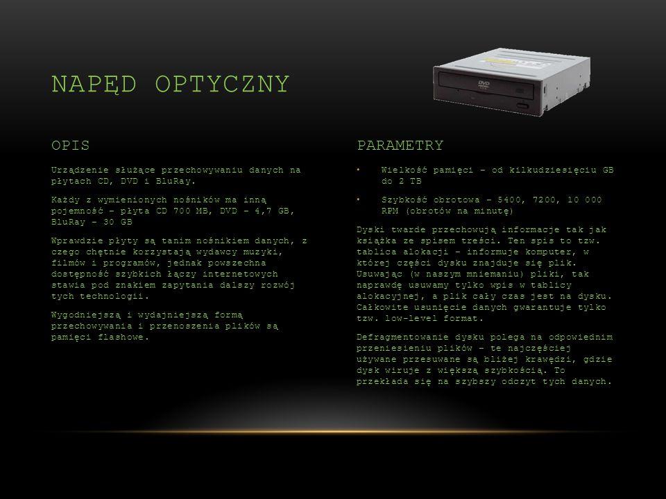 Napęd optyczny OPIS PARAMETRY
