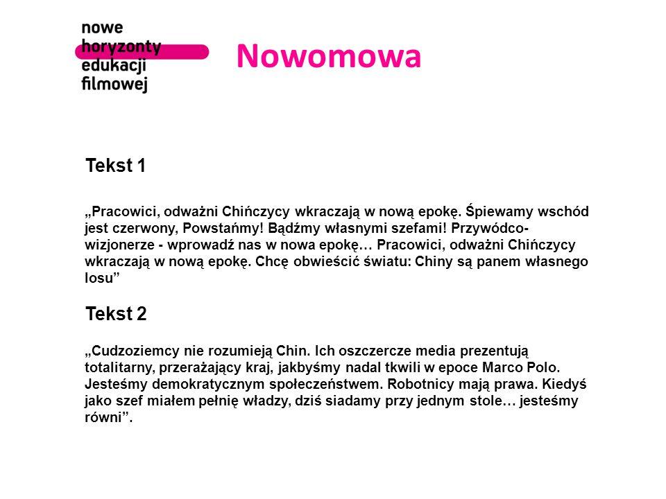 Nowomowa Tekst 1.