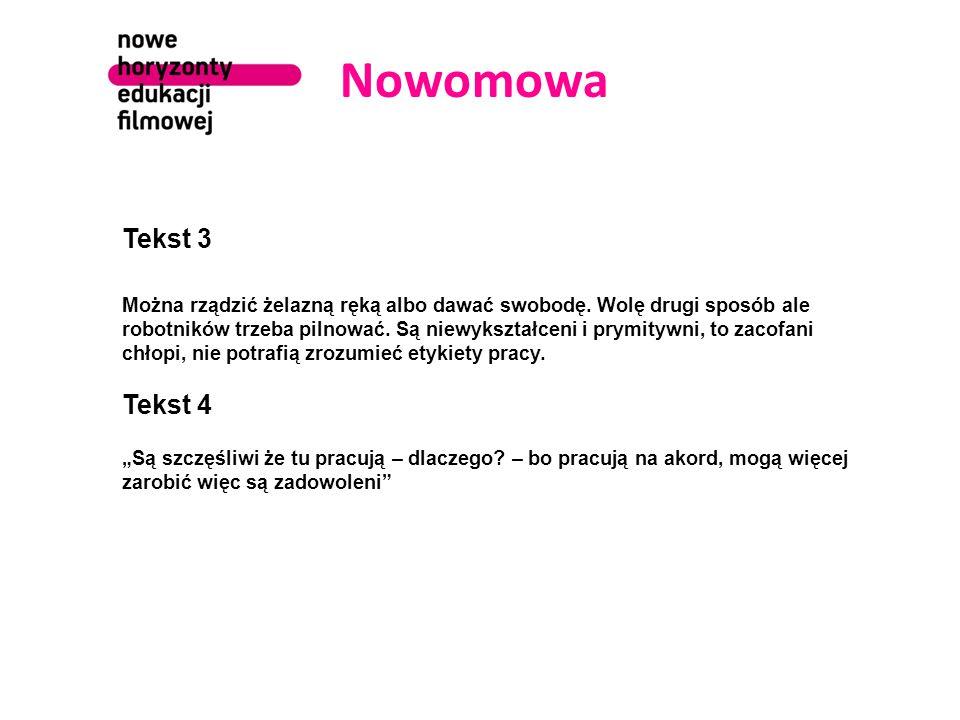 Nowomowa Tekst 3.