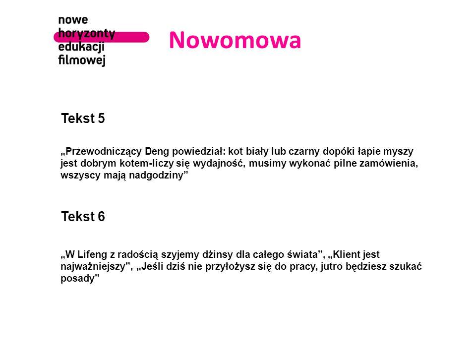 Nowomowa Tekst 5.