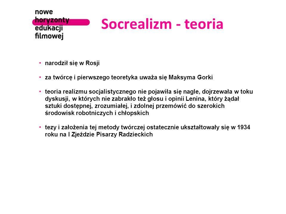 Socrealizm - teoria narodził się w Rosji