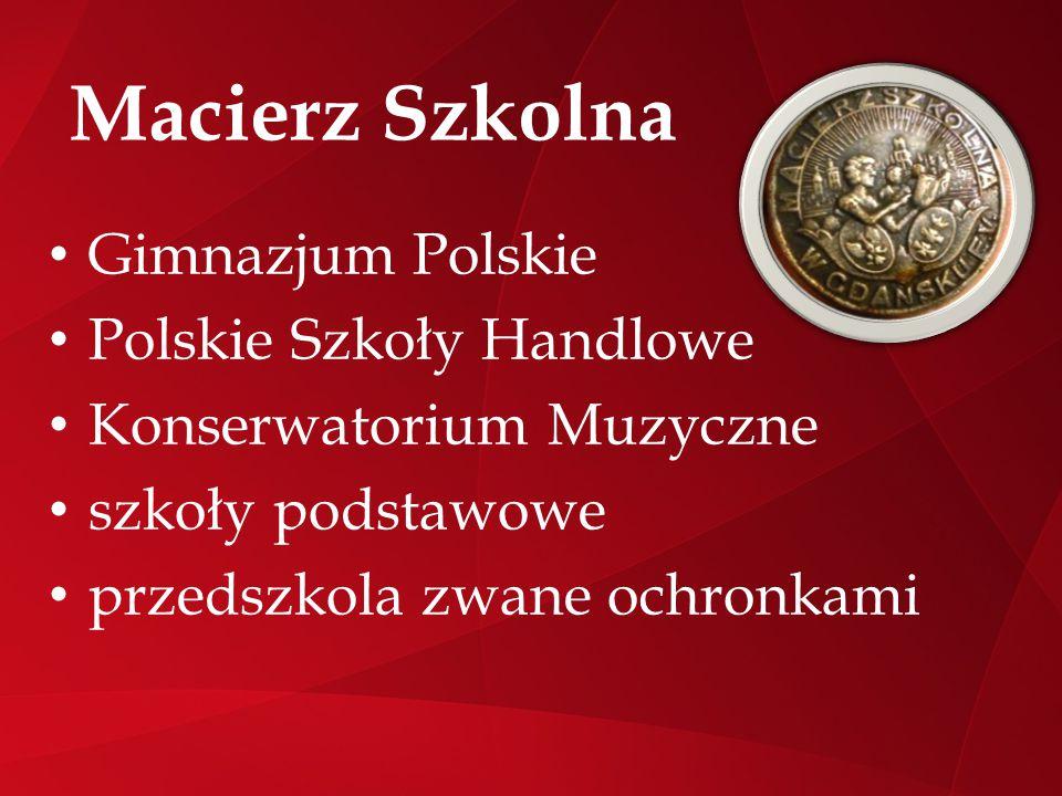 Macierz Szkolna Gimnazjum Polskie Polskie Szkoły Handlowe