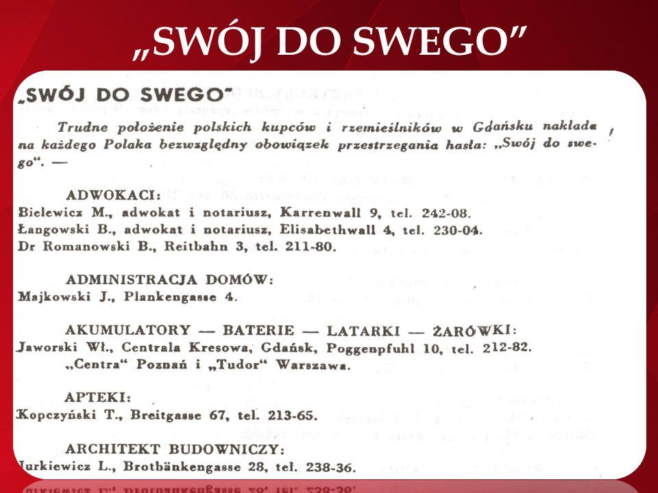 """""""SWÓJ DO SWEGO"""